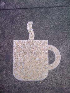 Tasse Kaffee hier.